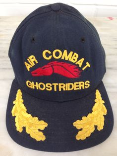 vintage Air Combat Ghost Riders baseball cap by New Era Pro Model Medium-Large by MotherMuse on Etsy