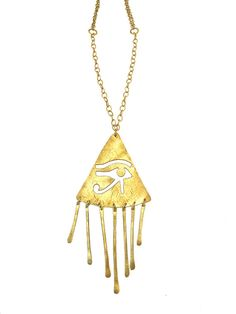 Eye of Horus Necklace egyptian jewelry by RawElementsJewelry
