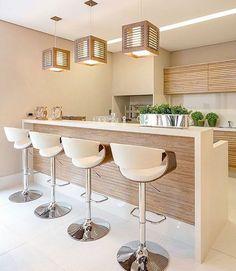 23 Clever DIY Christmas Decoration Ideas By Crafty Panda Modern Kitchen Design, Interior Design Kitchen, Home Interior, Modern Interior, Home Decor Kitchen, Home Kitchens, Cuisines Design, Kitchen Remodel, Sweet Home