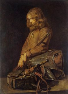 poboh: Young Soldier, Frans Hals II. Dutch (1618 - 1669)