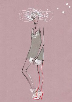 Fashion Illustration Print  - SOPHIE'S HEAD