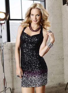 Ugh! Love the ombre gradient on this heavily sequined Scala dress!