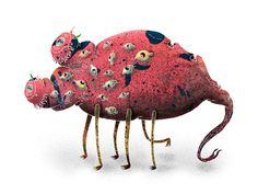 bug monster 10 by Ahmet Ozcan, via Behance