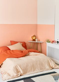 Color-blocked walls. (preferably just two colors)