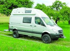 4x4 Mercedes Sprinter campervan on Iglhaut Allrad chassis.