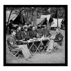 Eating at the Camp Mess at Bealeton, VA 1863