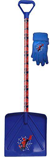Marvel Spiderman Kids Winter Snow Shovel and Fleece Winter Glove Combo, 72560K, Size: Kids