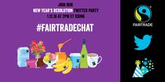 Please join us today at 2 ET for the 1st #FairtradeChat of 2016 as we discuss inspiring new year's resolutions!