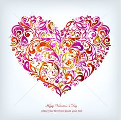 Christmas floral heart vector by Onfocus on Dreamsimages.com
