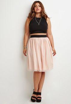 Tulle Mini Skirt   Forever 21 PLUS - 2000155457