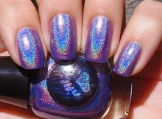 Sparkly Vernis: Bear Pawlish Lavender Kisses is a strong holographic purple