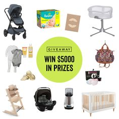 Baby Gear Giveaway - Win $5000 in prizes for baby Best Baby Registry, Baby Registry Must Haves, Baby Must Haves, Camo Baby Stuff, Free Baby Stuff, Baby Bedside Crib, Sears Baby, White Baby Cribs, Baby Giveaways