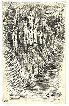 Untitled, Ink. by Odilon Redon