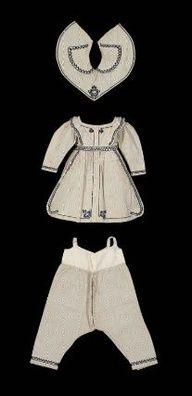 childrens undergarments, bib and dress