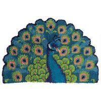 Craftways® Peacock Fan Latch Hook Kit