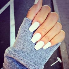 white nails , mint green almost nails, square nails, nail game, nail color