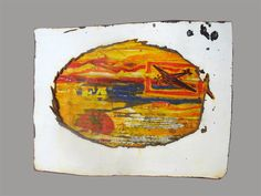 'El-Aeroplano-tomaat' made by Heleen van Zantvoort Collage Making, Collages, Coasters, Painting, Tomatoes, Coaster, Painting Art, Paintings, Painted Canvas