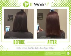 Hair Skin Nails enhances your own natural collagen and keratin production! These pictures are just. My It WorksIt Works GlobalExfoliating ...