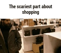 wasted, boo, scary, shopping GIF