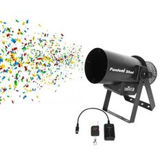 Chauvet DJ Funfetti Shot Professional Special Event Confetti Launcher and Remote, Black Paper Confetti, Special Events, Remote, Dj, Shots, Things To Sell, Concerts, Musical Instruments, Compressed Air