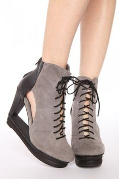 Jeffrey Campbell Abierto Cutout Wedge Boots