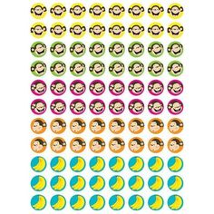 Monkeys & bananas stickers CTP7151