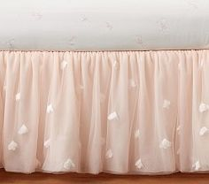 Monique Lhuillier Blush Pink Ethereal Bed Skirt