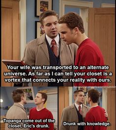 Your wife was transported to an alternate universe. As far as I can tell your closet is a vortex that connects your reality with ours.