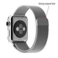 Apple Watch Band, LIANSING Milanese loop Apple Watch stainless steel band Bracelet Smart Watch Strap iwatch band with unique magnet lock Smart Watch Accessories for Apple Watch Band Black Apple Watch 42mm, Apple Watch Serie 1, Buy Apple Watch, Watch 2, Stainless Steel Watch, Stainless Steel Bracelet, Bracelet Apple Watch, Promo Amazon, Amazon Fr