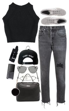 """Untitled #1696"" by breannaflorence on Polyvore featuring RE/DONE, adidas Originals, Linea Pelle, Marc by Marc Jacobs, Christian Dior, Topshop, Trukfit, River Island and NARS Cosmetics"