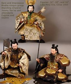 Musha Ningyo (warrior dolls) Archives feature inventory that are sold. Japanese Doll, Japanese Geisha, Japanese Art, Hina Dolls, Art Dolls, Samurai Weapons, Chinese Opera, Doll Japan, Asian Doll