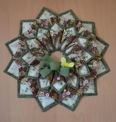 Old N Stitch Wreath Pattern From Poor House Quilt Designs