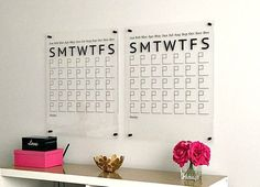 Acrylic Calendar with Side Notes, Dry Erase Calendar, Large Wall Calendar, Family Command Center Dry Erase Wall Calendar, Large Wall Calendar, Command Center Kitchen, Family Command Center, Writing Area, Black Gold Jewelry, Family Wall, Dry Erase Board, Shed Plans