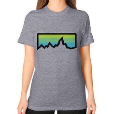 Abstract Mountain Light Invert Unisex T-Shirt (on woman)