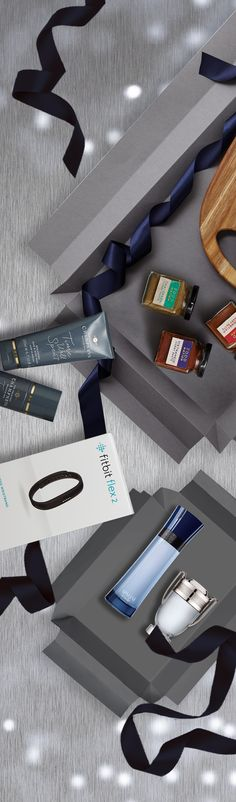 From the foodie to the fitness fanatic, find the perfect gift for him this Christmas.   Food Nation Paste.  Champneys Reward, Clean & Care Duo. Fitbit Flex 2 Fitness Wristband - Black. Giorgio Armani Code Colonia Eau de Toilette. Paco Rabanne Invictus Eau de Toilette.