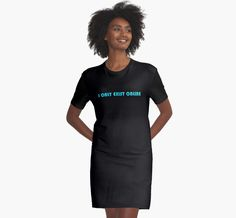 I ONLY EXIST ONLINE by GutterDesigns  Wide selection of mens and womens clothes, accessories, stickers, laptop & phone cases, journals, coffee cups, throw pillows, tapestries and bedding!