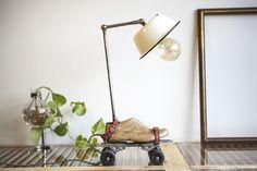 (06)ראם איל- Table Lamp Upcycled Vintage Roller Skates Enamel... - studioryx