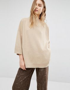 Paisie+Funnel+Neck+Jumper+With+Wide+Sleeves