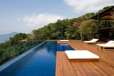 not only for swimming but also for relaxing with the view..