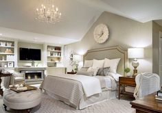 Monochromatic bedroom just saw this on HGTV