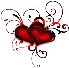 Red Heart Deacoration PNG Clipart