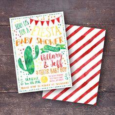 fiesta baby shower invitation fiesta shower invitation southwest baby shower invitation coed baby shower invitation spanish baby shower