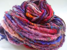 LauraSpinner: Rainbow Twist Handspun | corespun