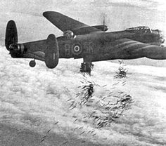 Lancaster bomber, the type of aircraft used by the RAF when bombing Dresden. Uploaded to Wikipedia by Andy Dingley Ww2 Aircraft, Military Aircraft, Dresden Bombing, Lancaster Bomber, Historia Universal, History Online, Ww2 Planes, New Museum, Royal Air Force
