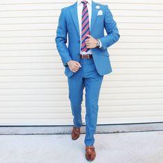 Blue Suit Wedding, Wedding Suits, Fashion Network, Gentleman, Suit Jacket, Menswear, Prom, Blazer, Mens Fashion
