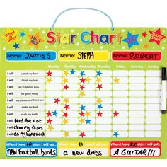Star reward chart