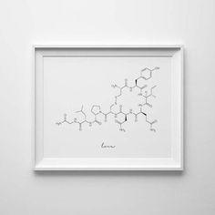 Oxytocin-Molekül Liebe Molekül Oxytocin Print Molekül