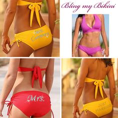 Really cute idea for beach wedding bikini!