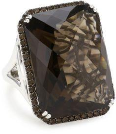 $1,145 : Badgley Mischka Fine Jewelry Smoky Quartz Large Cocktail Ring, Size 7