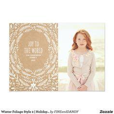 Winter Foliage Style 2 | Holiday Photo Card